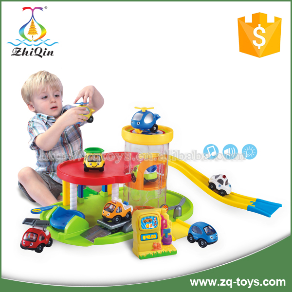 New style baby plastic car parking garage toy