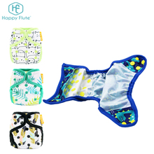 Happy flute reusable cloth baby diaper cover waterproof newborn nappy cover