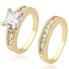 13508 xuping diamond gold couple ring wholesale fashion indian jewelry latest rings newest designs jewelry ring