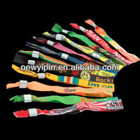 Custom Festival Woven Fabric Wristband Events