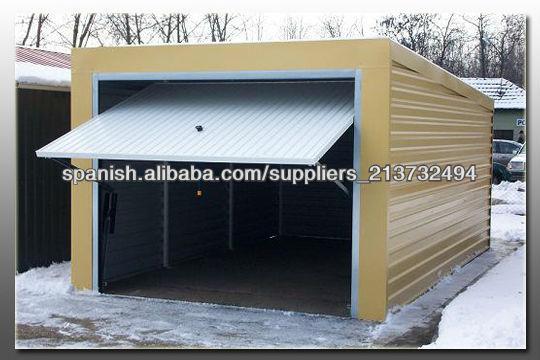 Garajes y cobertizos met licos casas prefabricadas for Cobertizos prefabricados metalicos