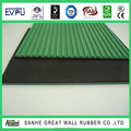 fine ribbed green rubber sheet
