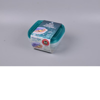 Medium Square Container 540ml * 3pk disposable plastic takeaway container with lids blue 30808