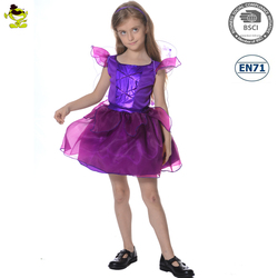 A Children purple fairy costume girl flower fancy dress competition