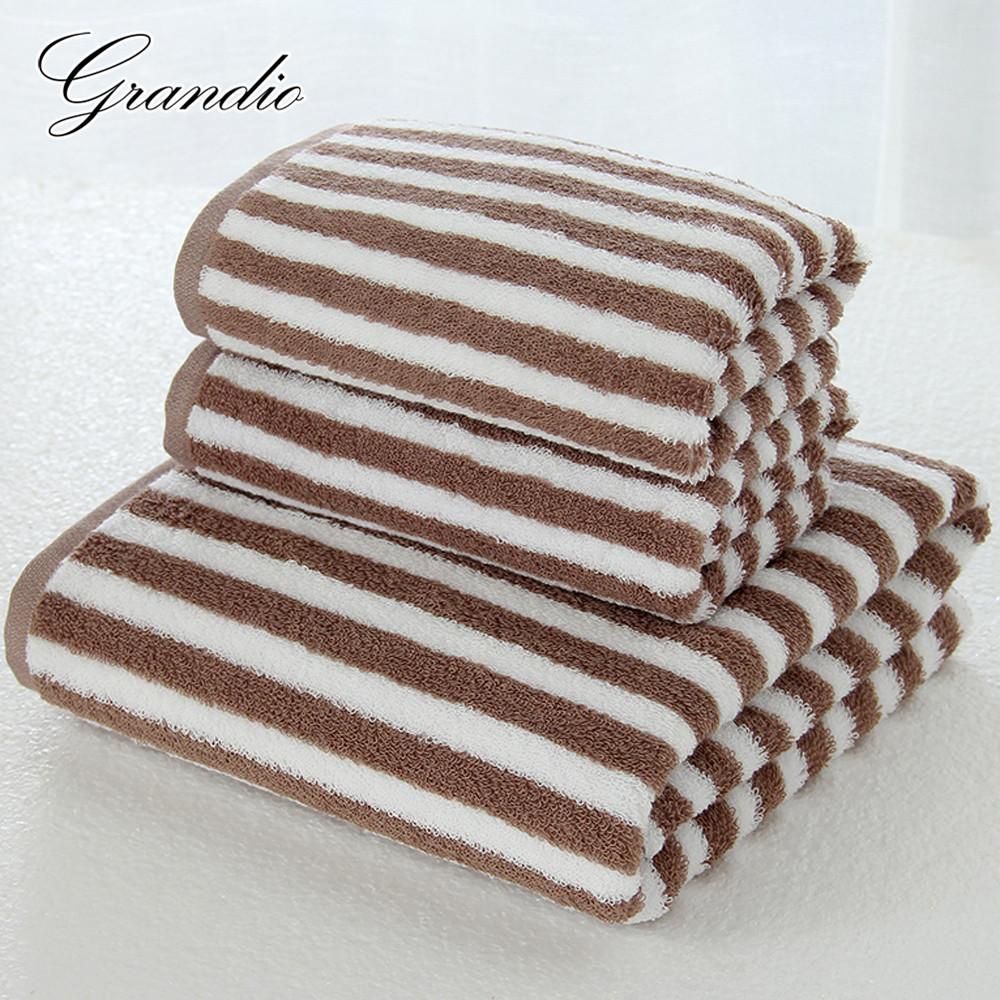 New-arrival-3pcs-set-Wipe-hand-Wash-face-Take-bath-Towel-100-cotton-eco-friendly-Simple