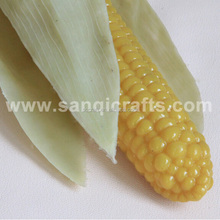 Exporting simulation plastic yellow corn with coating, fake corn cob for decoration