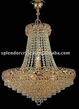 Classic Gold Finish Crystal Chandelier 24% PbO Crystals