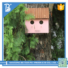 lovely harmless wooden OutDoor Bird pet sleeping house factory direct wholesale