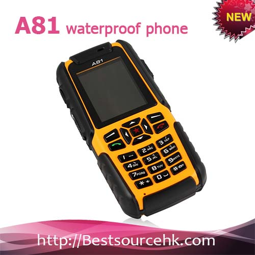 Russia keyboard rugged phone A81 IP67 Waterproof Dustproof Shockproof Rugged Phone Outdoor Mobile Phone With Dual SIM 2.0