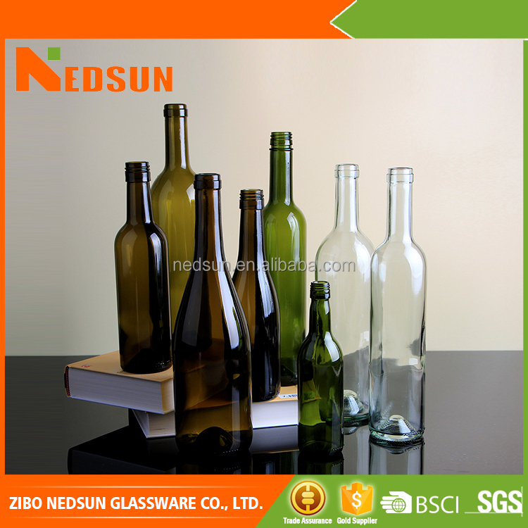 High quality manufactures glass bottles for wine in different size