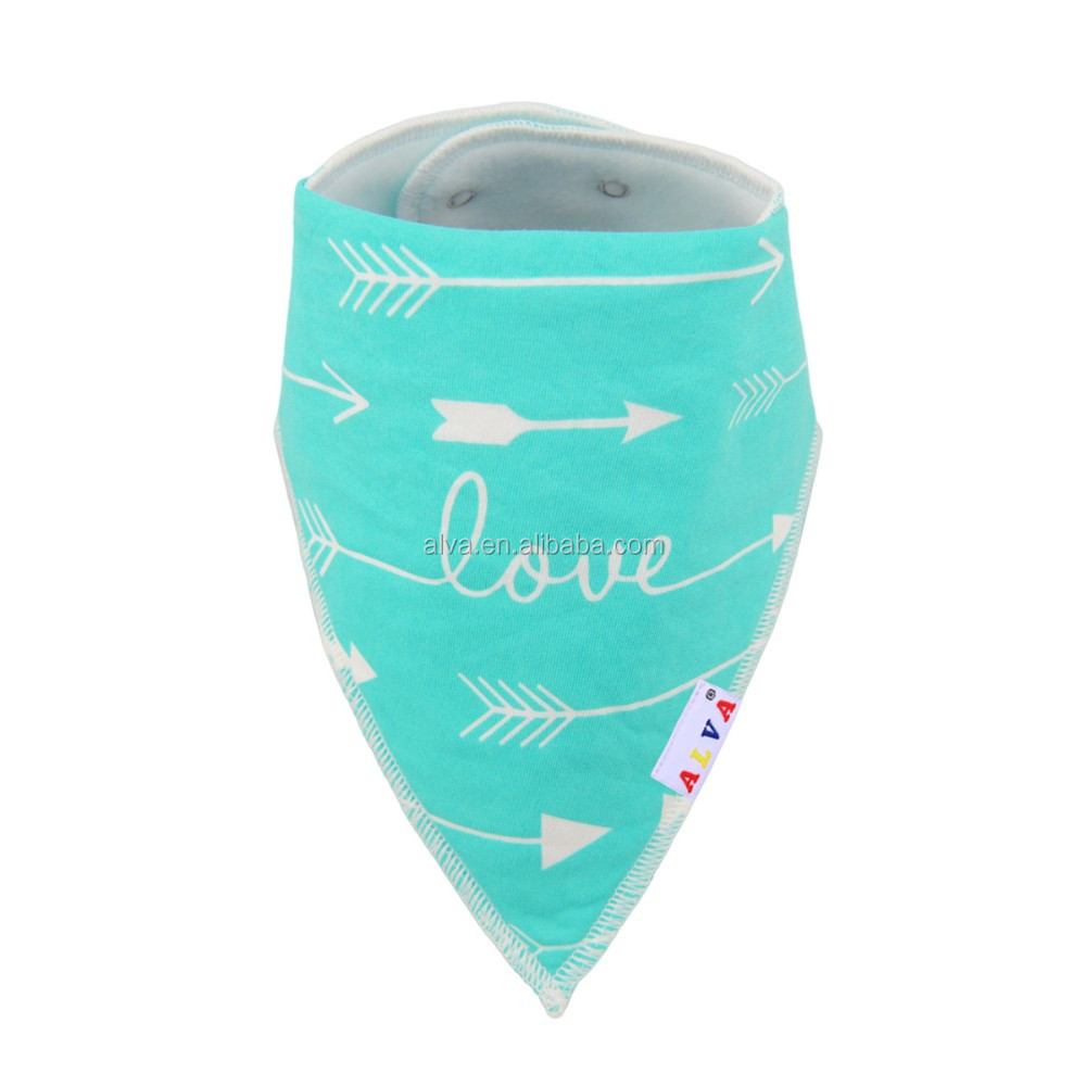 Alva Customized Love and Arrow Design Cotton Baby Bandana Drool Bibs