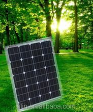 High quality low price elaborate process Chinese ningbo ring electronics 18V 65W mono solar panel