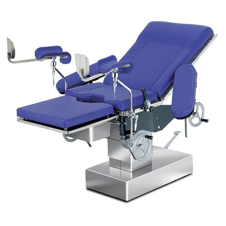 Hospital Hydraulic Manual Gynecological Examination Delivery Table