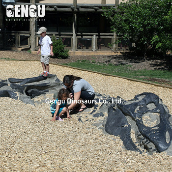 Outdoor Children Amusement Park Dinosaur Fossil Dig It Out For Play