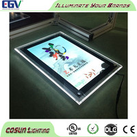CE 12X96pixel A3 crystal led light box with Red/Blue/Whit led scrolling display
