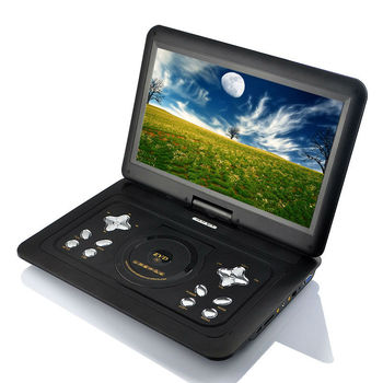 LCD screen portable portable dvd player support SD MMC Card
