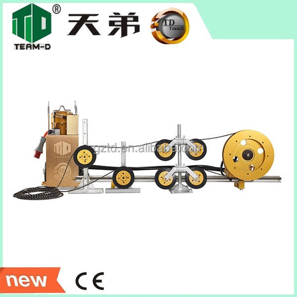 Reinforced concrete wire saw cutting machine to cut concrete and steel cable