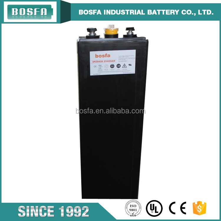 bosfa battery manufacturer promotional traction forklift battery 2v 420ah battery