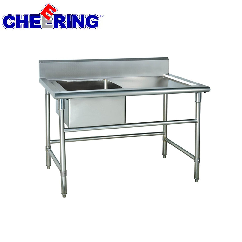 Freestanding heavy duty vegetable washing sink for kitchen