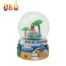 High quality custom different types of San diego souvenir snow globe