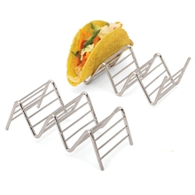 Stainless Steel Taco Holder Wave Shaped Kitchen Tool Hard Soft Shell Hotdogs Burritos Sandwiches Pie Tools Easy to Clean