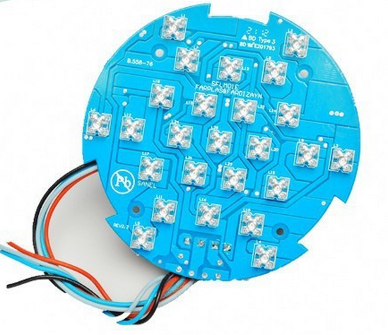 high-power FR4 aluminium cree led pcb 12 volt led circuit board round led module