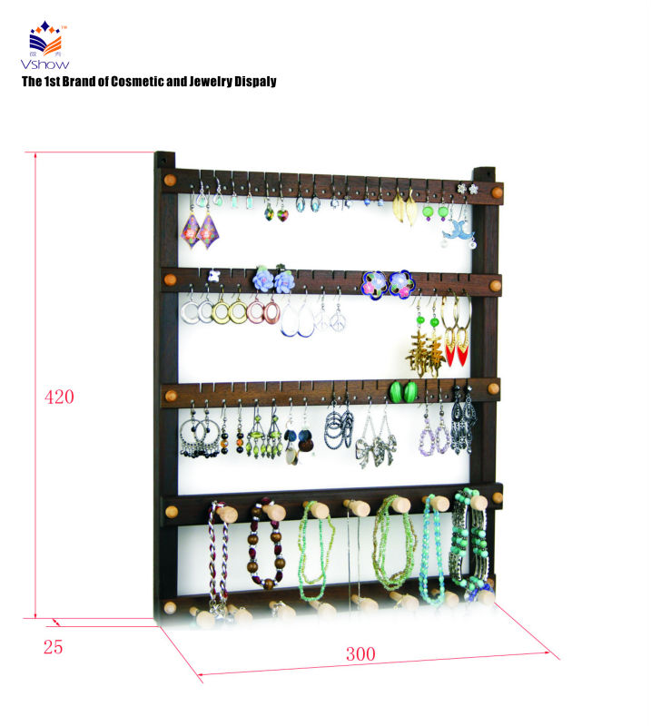 Latest jewelry rack wooden wall rack designs