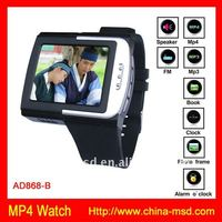 2011 hot item wrist watch with Ebook/ MP3/ MP4 player function