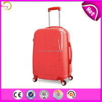 sincere sell New style fashion PC trolley luggage bags cases for girl