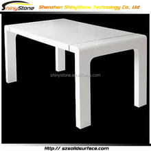 Amazing cafe bar acrylic solid surface wrought iron dining table legs