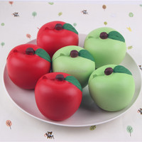 2016 new soft slow rising Pu apple toys, Anti stress Pu apple balls, Squeeze stress reliever Pu ball