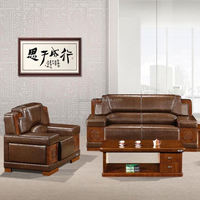 2015 Simple Wooden Leather office counter table office furniture design Design (SJ5096H)
