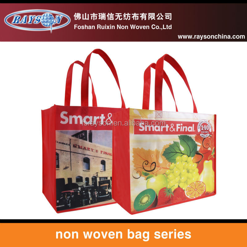 Wholesale reusable shopping bags non woven carry bag