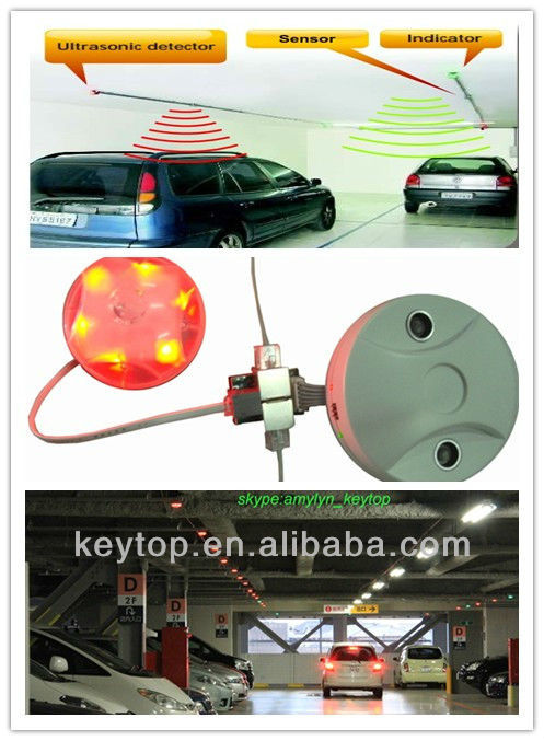 multi level car parking system-indoor garage ultrasonic parking guidance system