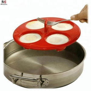 Silicone 4 Egg Poacher And Mold For Microwave