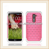 Mobile accessory for lg g2 diamond case,New design mobile phone case for lg g2,dimond design phone case for lg g2
