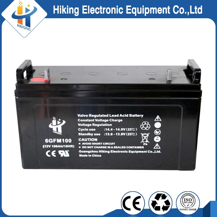 Energy power storage 12v 100ah rechargeable lead acid batteries