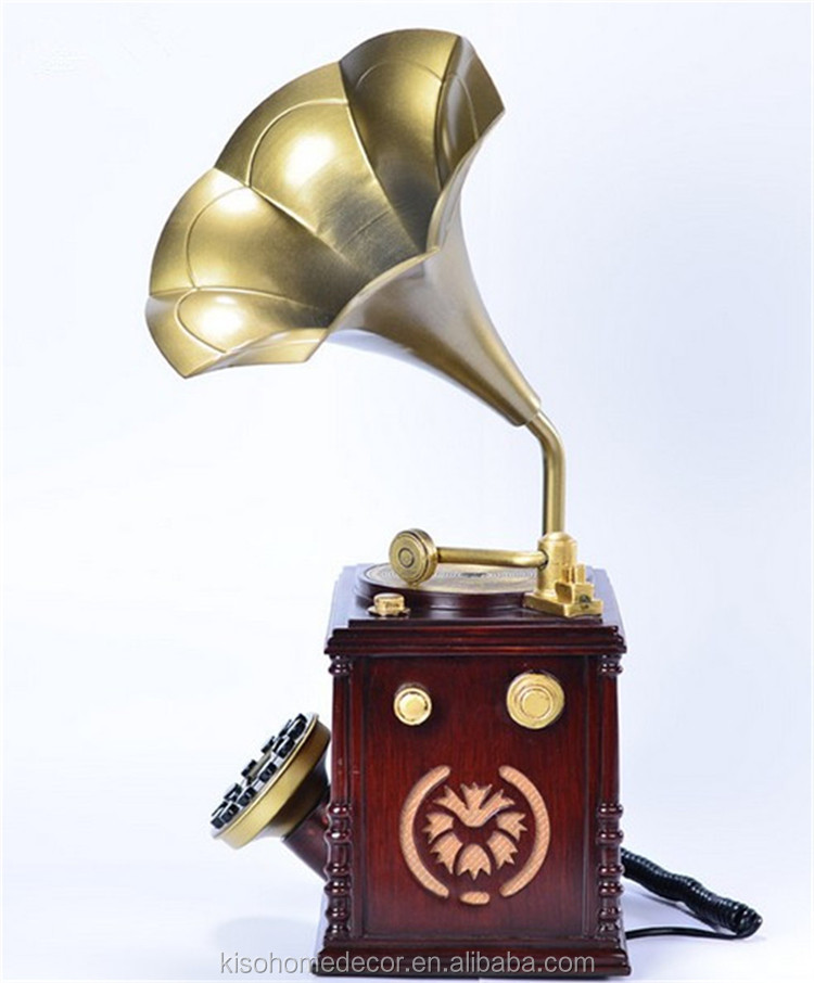 Novelty New Arrival European Style Home Decor Phonographs Antique Telephone