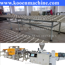 corrugated PVC plastic roof tile / sheet extrusion productionline/glazed roof tile making machine