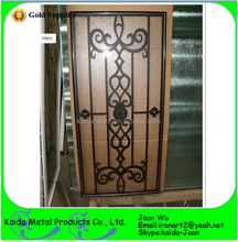 Metal Wrought Iron Door Grilles Inserts For Wooden Door
