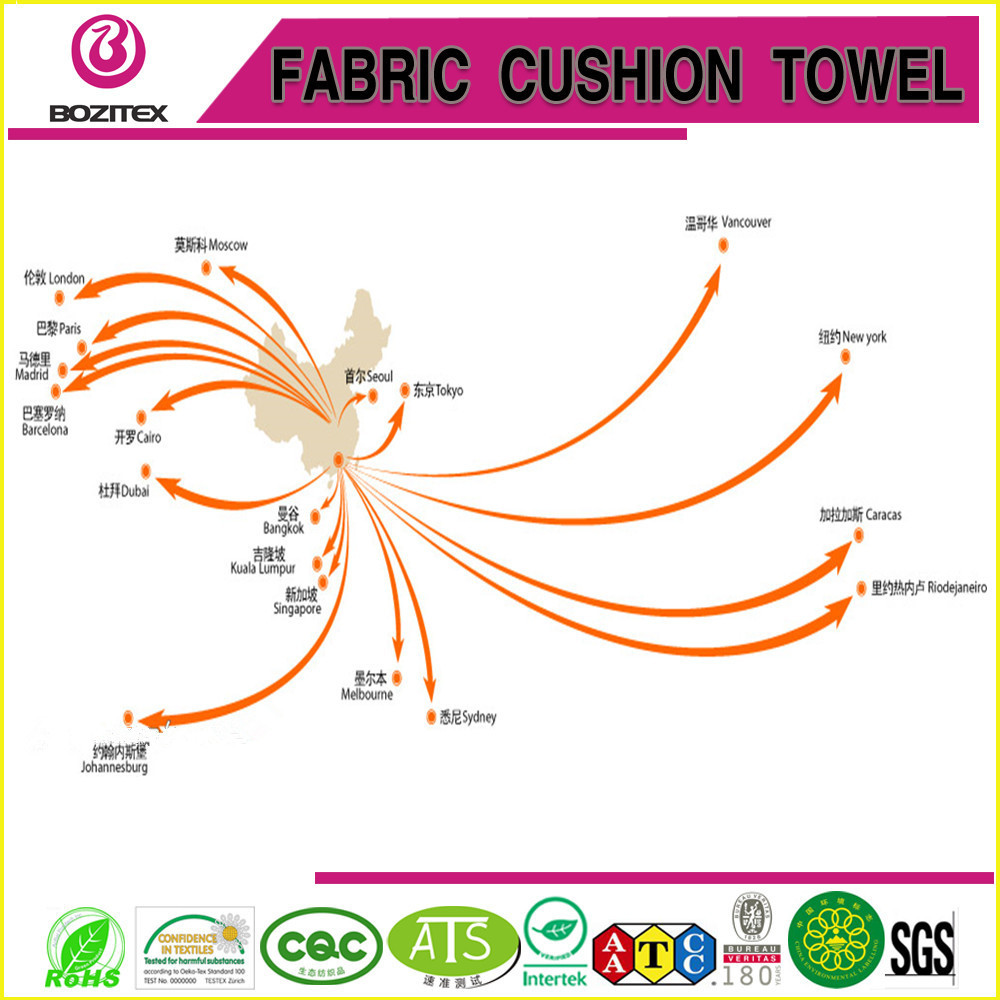 Microfiber Yoga Towel with belly band beach towel China factory