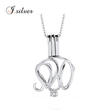 drop shipping 925 sterling silver pearl elephant cage pendant TP0008