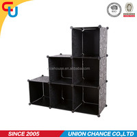 Plastic DIY black color storage cube for home decoration