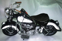 Tinplate Model For Collection Handmade Antique Model Motorcycle