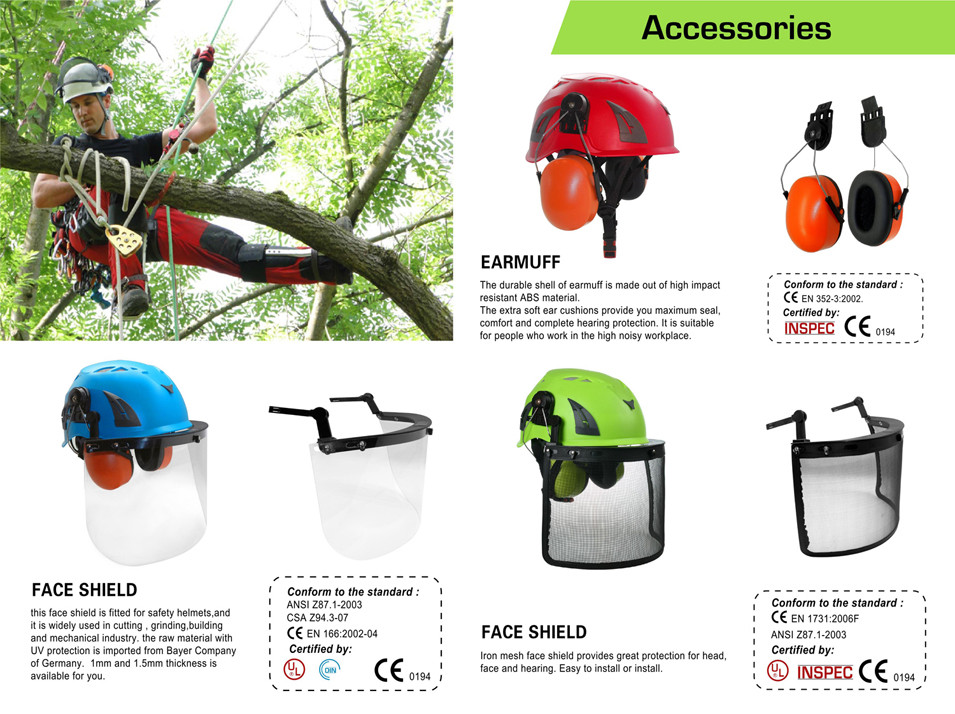 Forestry Chainsaw Tree Climbing Safety Helmet For Arborist Services