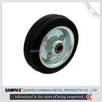 "Factory direct price 3"" black rubber wheel, single caster wheel"