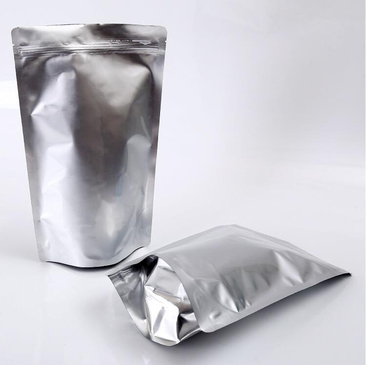 Factory wholesale silver heat sealed resealable small aluminum foil mylar custom mini ziplock bag for food packaging