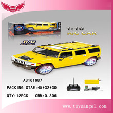 hot selling 1:10 yellow model toys rc car body with favorable price