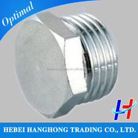 stainless steel threaded hex head pipe plugs