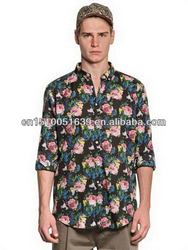 Buy wholesale direct from china rib man's casual shirt
